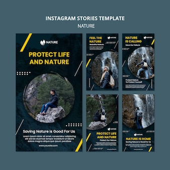 Instagram stories collection for nature protection and preservation