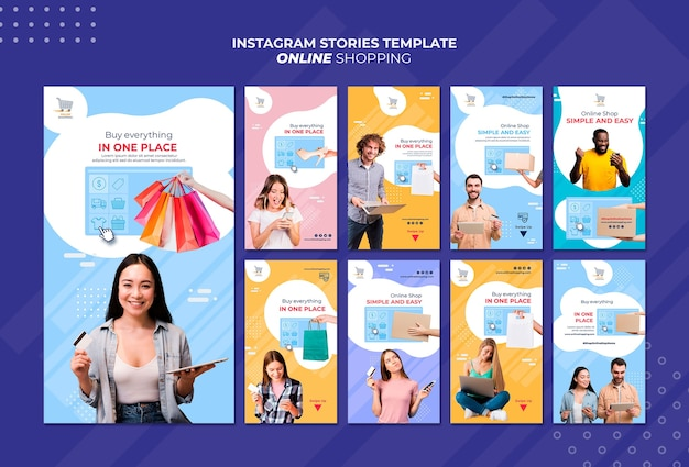 Instagram stories collection for online shopping