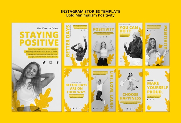 Instagram stories collection for positivism