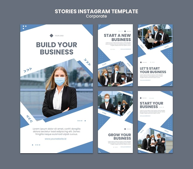 Instagram stories collection for professional business