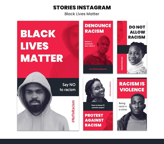 Instagram stories collection for racism and violence