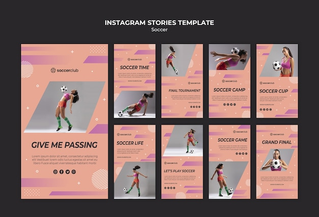Instagram stories collection for soccer