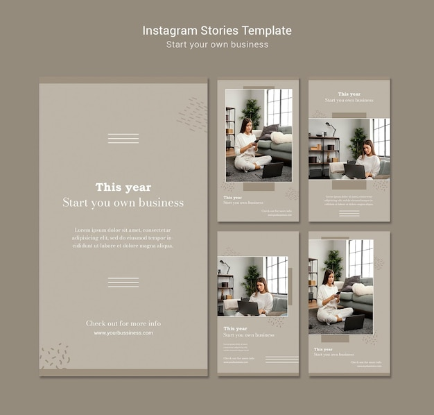 Instagram stories collection for starting own business