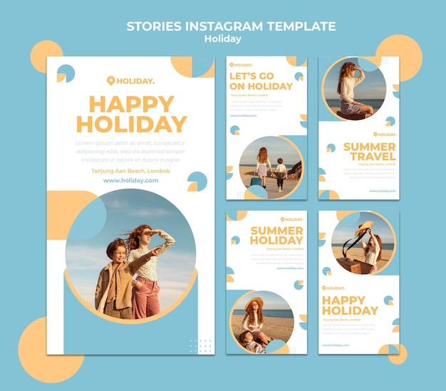 Instagram stories collection for summer holiday