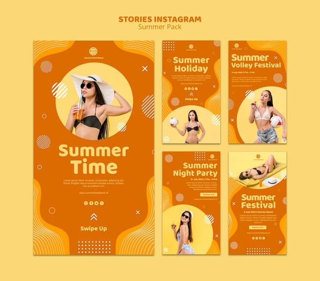 Instagram stories collection for summer vacation