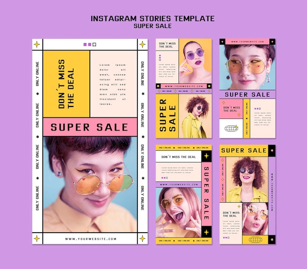 Instagram stories collection for sunglasses super sale