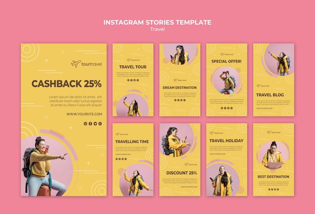 Instagram stories collection for traveling