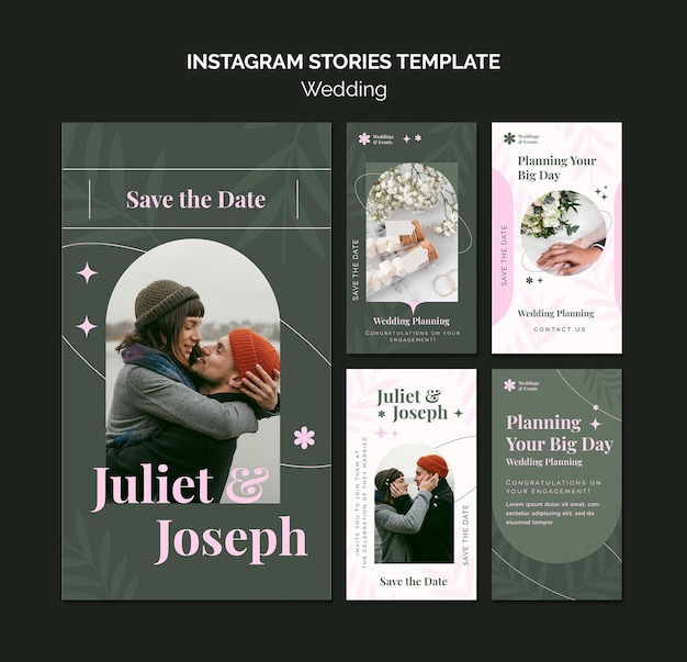 Instagram stories collection for wedding