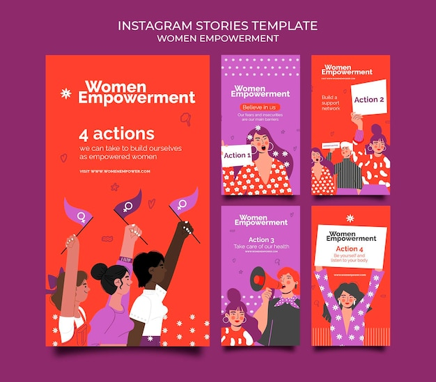 Instagram stories collection for women empowerment