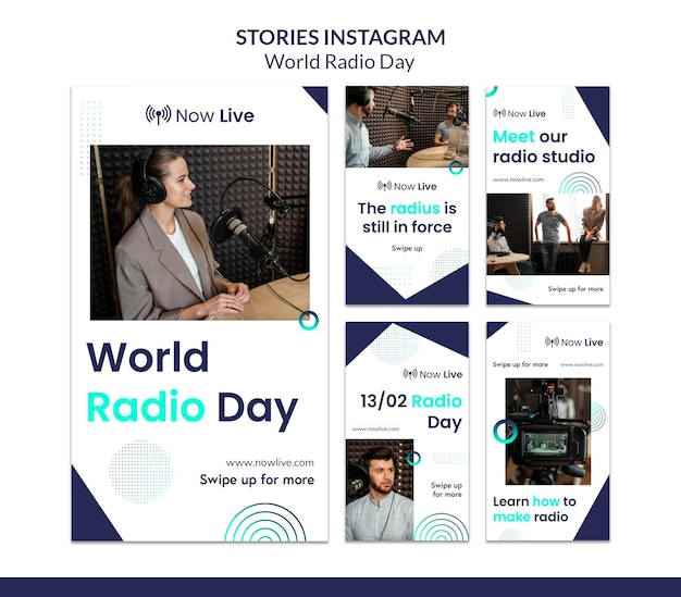 Instagram stories collection for world radio day