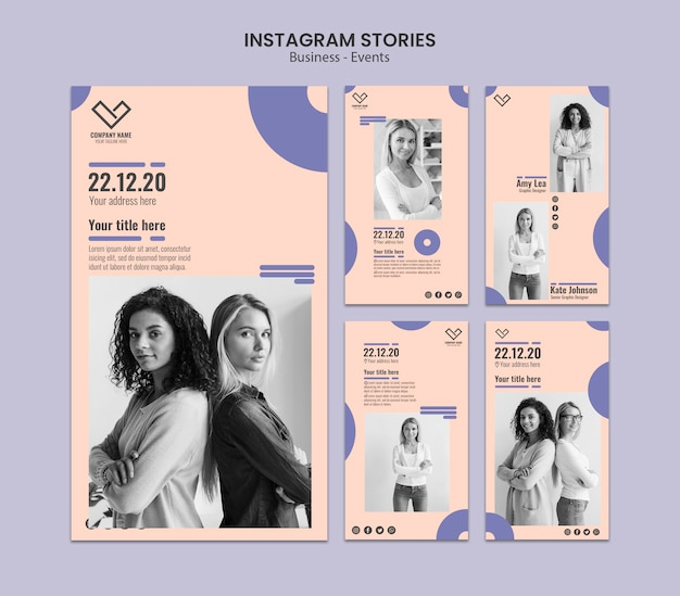 Instagram stories design for template