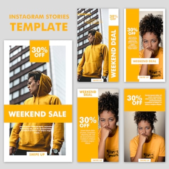 Instagram stories fashion template collection