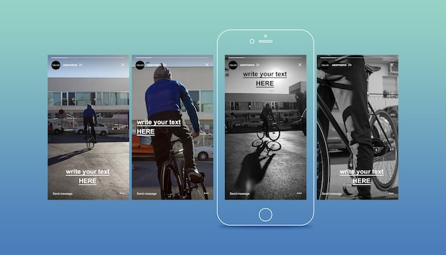 Instagram stories mockup