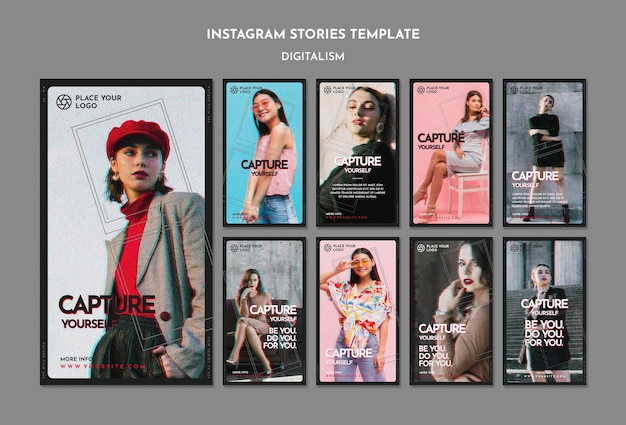 Instagram stories pack for capture yourself theme