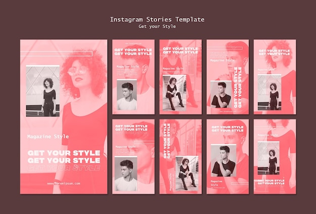 Instagram stories pack for electronic style magazine