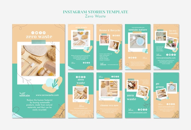 Instagram stories pack for zero waste