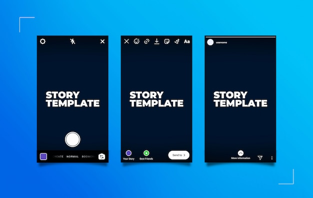 Instagram stories publication process mockup
