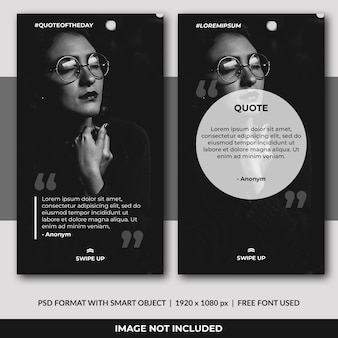 Instagram stories quote template