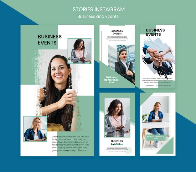 Instagram stories template for business event