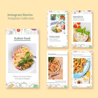 Instagram stories template collectio