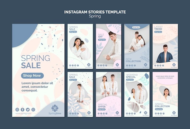 Instagram stories template collection