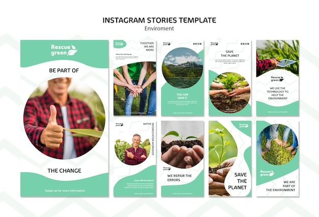 Instagram stories template for environment