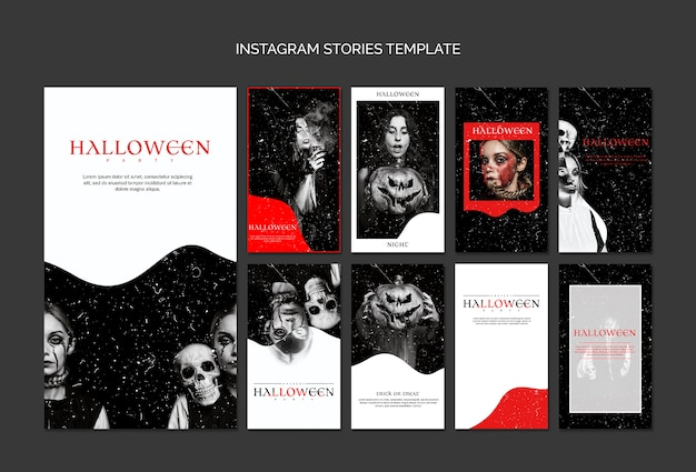 Шаблон instagram истории для хэллоуина