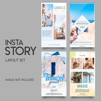 Instagram stories template summer set