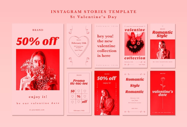 Instagram stories template for valentine's day