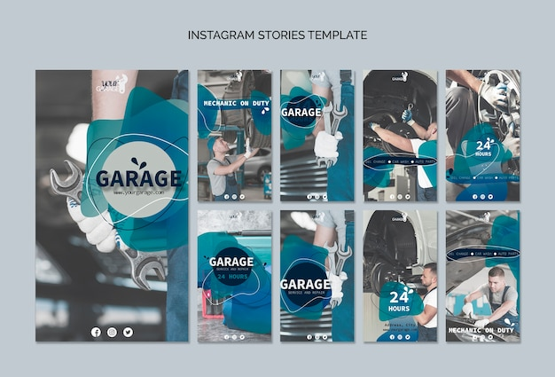Instagram stories template with mechanic