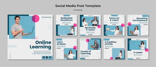 Instagram stories with e-learning