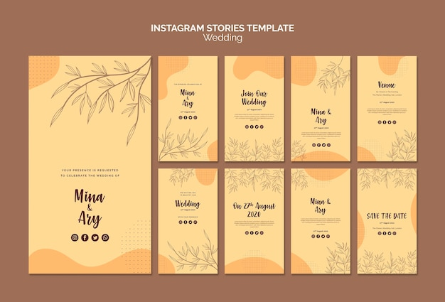 Instagram stories with wedding theme