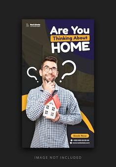 Instagram story template for promoting real estate business