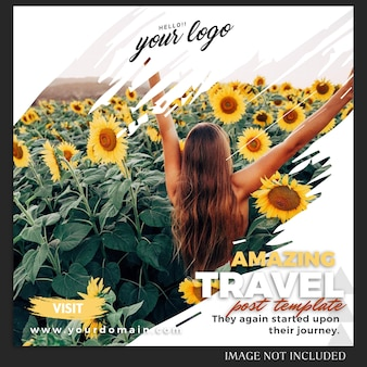 Instagram  summer holiday travel post template