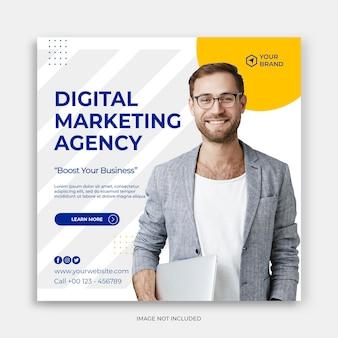 Instagram template digital business marketing social media post banner or square flyer