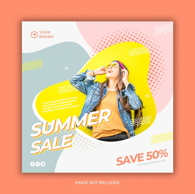 Instagram template fashion sale or square flyer