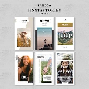 Набор шаблонов истории моды instagram