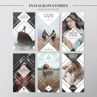 最小限のinstagramストーリーテンプレート