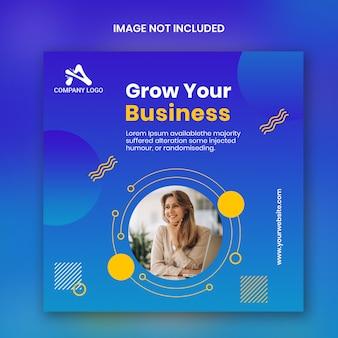個人的なビジネスinstagram正方形バナーテンプレート