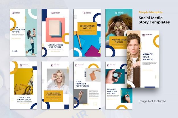 金融ソーシャルメディアinstagramストーリーコレクションテンプレート