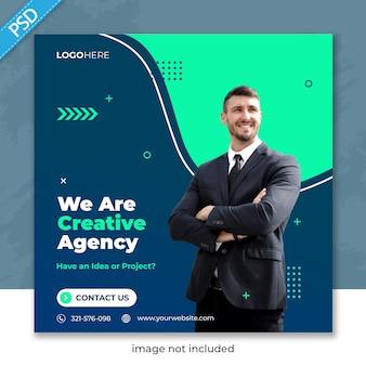 ビジネスプロモーションと企業のソーシャルメディアのinstagram投稿バナーテンプレート
