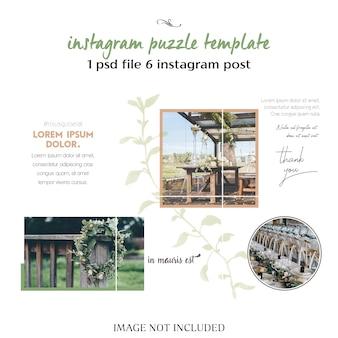 Романтическая свадьба шаблон instagram коллаж