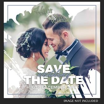 Instagram свадебный пост шаблон