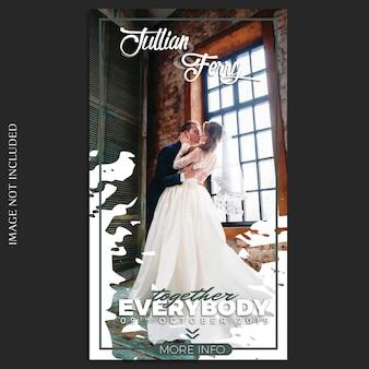 Шаблон свадебных историй в instagram