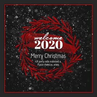 クリスマスinstagramポストカードまたはバナーテンプレート