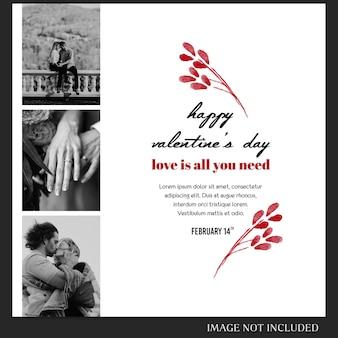 バレンタインデーのinstagram投稿テンプレートとバナーテンプレート
