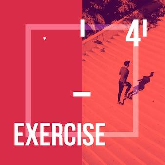 Instagram пост фон с концепцией упражнений