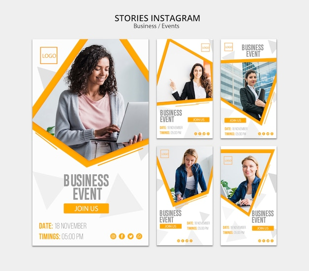 Instagramストーリーのビジネスオンラインデザイン