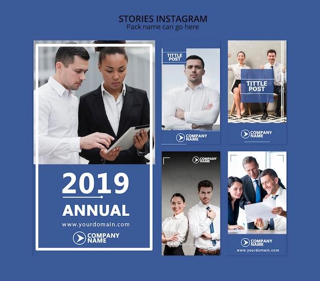 Корпоративная концепция истории instagram для шаблона