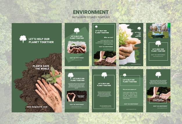 Дизайн шаблона истории окружающей среды instagram